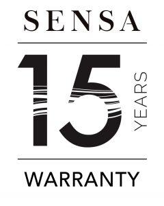 Sensa 15 years warranty logo